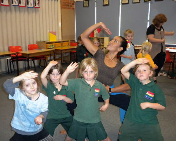 Jade teaching at Wingham Primary School